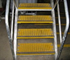 Fibreglass grating step treads offer a safe long lasting option for use in corrosive environments.
