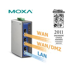 Moxa industrial router honoured at engineering awards