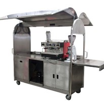 Stainless Steel Coffee Cart & Coffee Machine