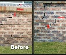 This dramatic wall crack was caused by reactive clay soil shrinkage due to drought!