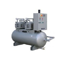 Traditional Receiver Tank Mounted Centralised Vacuum Pump System