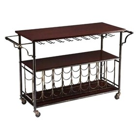 Bar Cart Wine Trolley 123cm