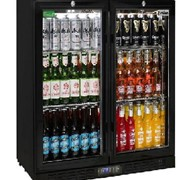Commercial Under Bench Black Double Door Bar Fridges