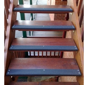 Carborundum non-slip stair nosings from Grip Guard