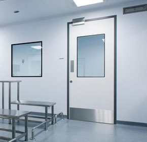 Hygienic swings doors for clinics and pharmaceutical applications