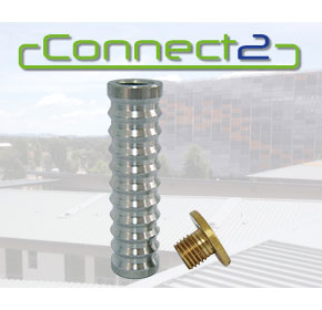 Concrete Insert Only With Brass Cap | Connect2