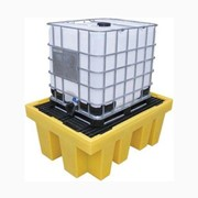 Single IBC Spill Pallet – Removable Decking
