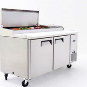 Atosa Double Door Pizza Prep Table Refrigerator
