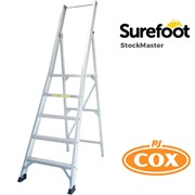 StockMaster SureFoot | Safe Portable Trade Platform Ladder