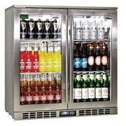 Rhino Stainless Steel 2 Door Bar Fridge