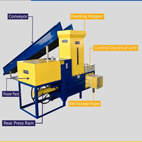 CE Certified Wood Sawdust Baler with UK Brand