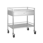 Double Draw Stainless Steel Trolley