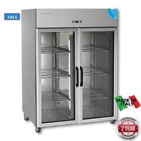 Mastercool Glass Door Upright Freezer 1400 Ltr. Made in ITALY