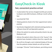 EasyCheck-in Kiosk from MyHealth1st