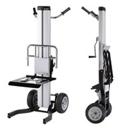 ML1 Material Lifter Trolley with Silent Winch Operated Forks or Table