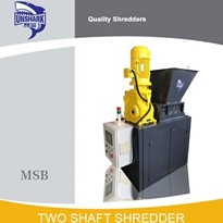 Enerpat High Quality Hospital Garbage Double Shaft Shredder | MSB-7.5