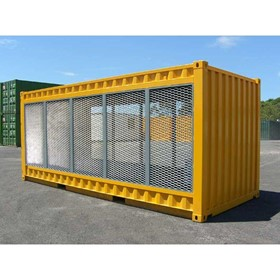 Open Air Gas Cylinder Storage Shipping Containers