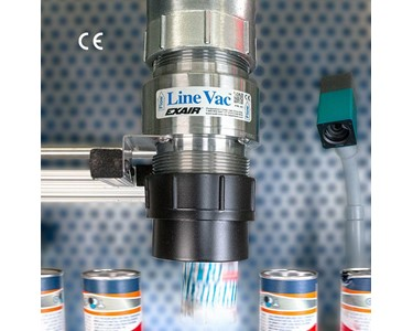 Threaded Line Vac uses ordinary pipe and is ideal for long distance conveying