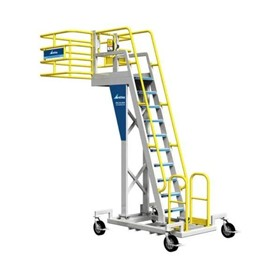 Ground Support Cantilever Rolling Platform Ladder | C-Series