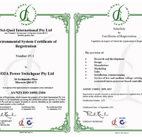 NOJA Power's commitment to Sustainability -Accrediting ISO14001