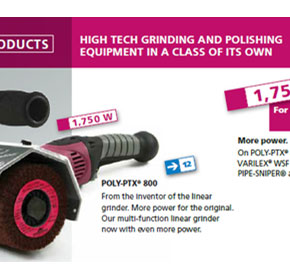 New Poly-PTX 800 multi-functional grinder/polisher now available