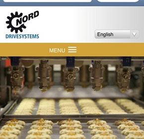 Microsite food.nord.com optimised for mobile devices