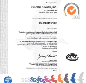 ISO 9001:2008 Compliance