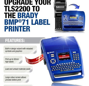 Trade up from your old TLS2200 to the 21st Century BMP71 Label Machine
