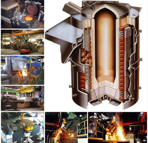 210 ton/hour induction melting plant competes with arc furnaces