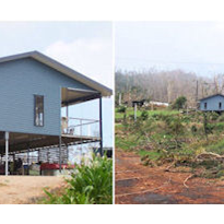Cyclones & Henrob Self Pierce riveted steel frame houses