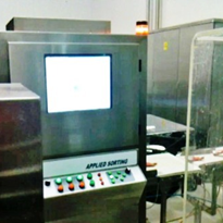 Inspection equipment used in scanning baby foods