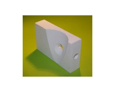 Ceramic foam insulation block