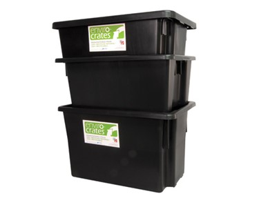 Enviro Crate Stack Nest Containers Stacked when rotated 180 degrees