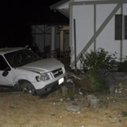 Car crashes into a Quad-Lock house