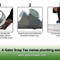 Gator Snap Tee - here's a new way to think about plumbing!