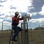 Solar tracking & weather station assists solar flagship project