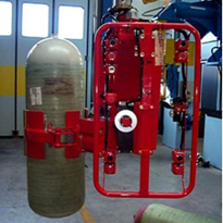 Boiler handling using industrial pneumatic lifting equipment