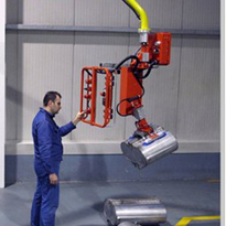 Industrial pneumatic lifter for handling cylinders, tubes and pipe