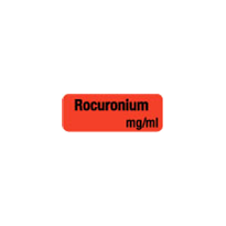 Drug & Syringe Identification Labels - ROCURONIUM
