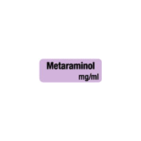 Drug & Syringe Identification Labels - METARIMINOL