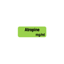 Drug & Syringe Identification Labels - ATROPINE