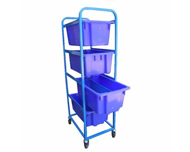 Bin Rack Trolley with Nally Bins