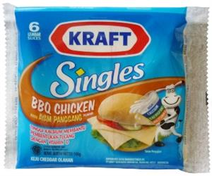 Kraft Singles BBQ Chicken Flavored Cheddar Cheese