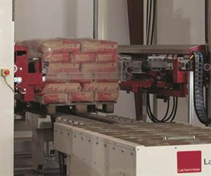 Wrapping 2.5m high pallets in just 15 seconds.