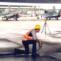 Uretek re-supports and re-levels airport slabs