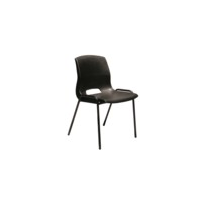 Plastic Stacking Chair with Optional Writing Tablet - Buro Quad