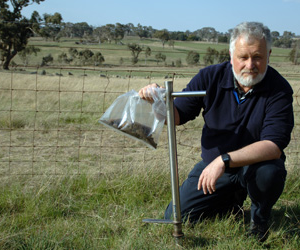 Dr Richard Simpson has been part of a team of scientists researching the phosphorus efficiency of Australian agricultural soils. Image courtesy Carl Davies, CSIRO.