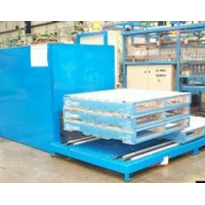 Pallet dispenser for plastic bottle manufacturer