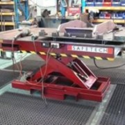 Scissor lifts workbench for metal fabrication