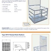 Work Platforms - FORKLIFT Attachment Series